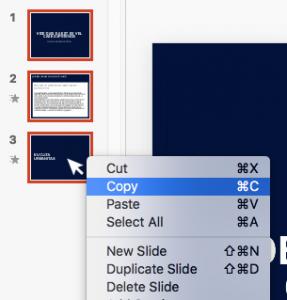 Copy Slides PowerPoint