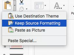 Keep Source Formatting button