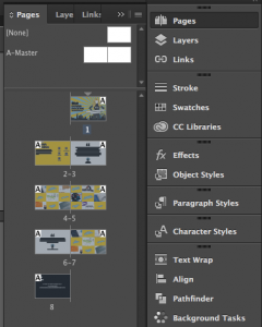 Pages Sidebar InDesign CC