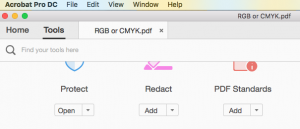 RGB or CMYK? Check with Acrobat Pro