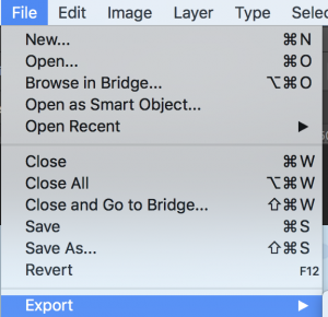 Export Photoshop